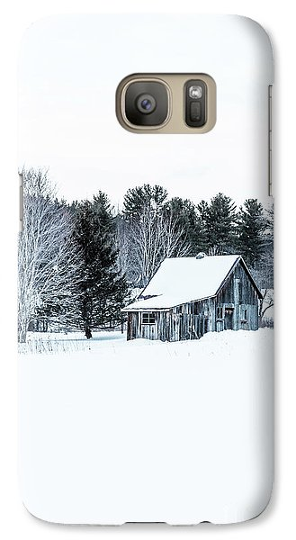 Galaxy Case featuring the photograph Remote Cabin In Winter by Edward Fielding