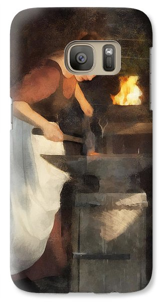 Galaxy Case featuring the digital art Renaissance Lady Blacksmith by Francesa Miller