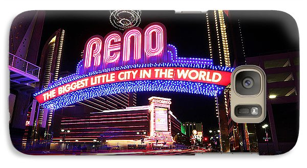 Galaxy Case featuring the photograph Reno - The Biggest Little City In The World by Shawn Everhart