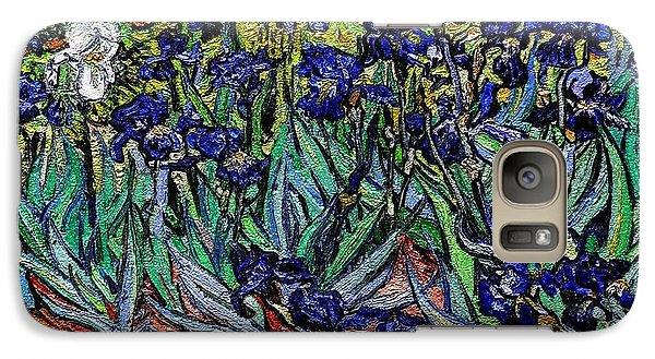 Galaxy Case featuring the digital art replica of Van Gogh irises by Pemaro