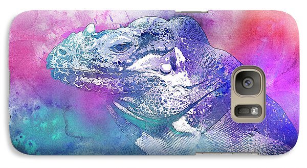 Galaxy Case featuring the mixed media Reptile Profile by Jutta Maria Pusl
