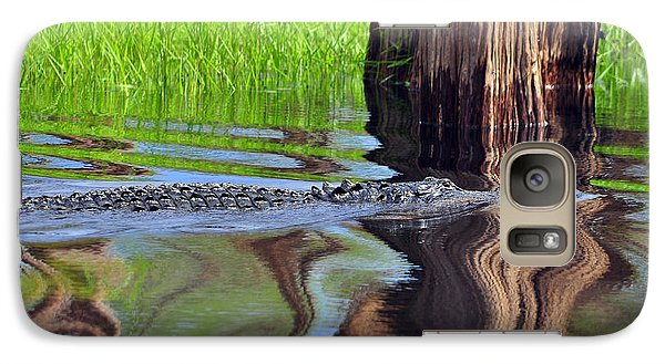 Galaxy Case featuring the photograph Reptile Ripples by Al Powell Photography USA