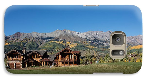 Galaxy Case featuring the photograph Residences In Mountain Village -- A Planned Community Adjacent To Telluride by Carol M Highsmith