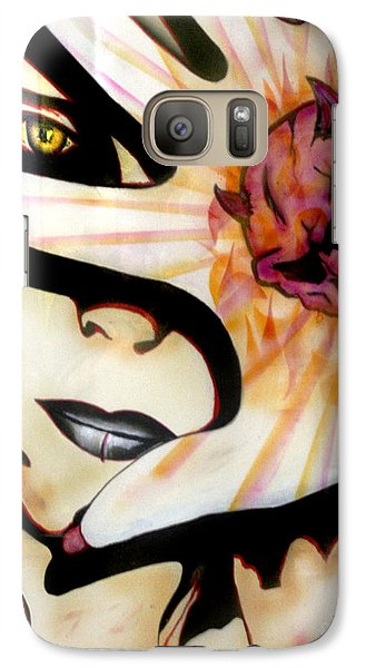 Galaxy Case featuring the painting Resistance by Tbone Oliver