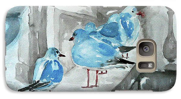 Galaxy Case featuring the painting Rest By The Sea by Jasna Dragun