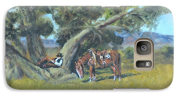 Galaxy Case featuring the painting Resting Cowboy Painting A Study by  Luczay