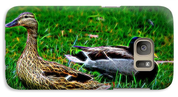 Galaxy Case featuring the photograph Resting Ducks by Mariola Bitner