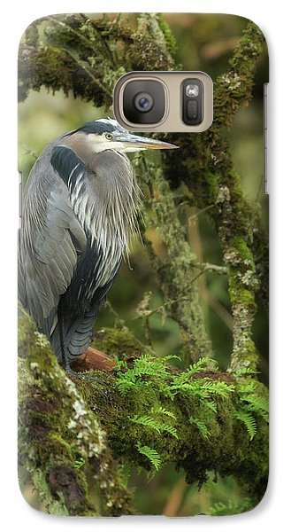 Galaxy Case featuring the photograph Resting Great Blue Heron by Angie Vogel