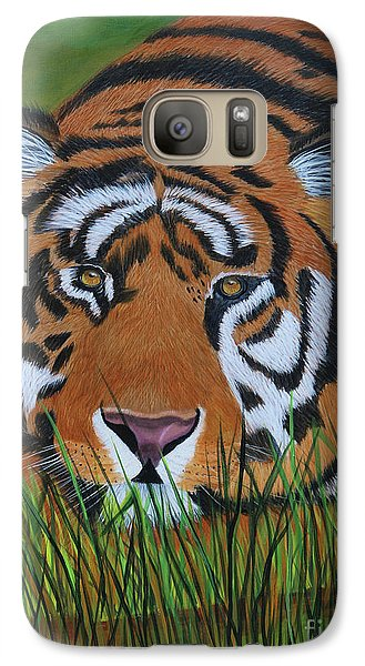 Galaxy Case featuring the painting Resting Tiger  by Myrna Walsh