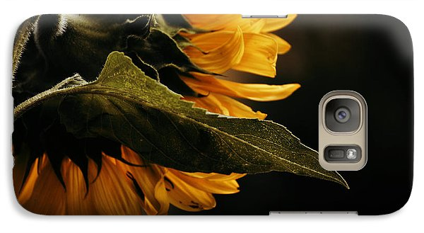 Galaxy Case featuring the photograph Reticent Sunflower by Douglas MooreZart