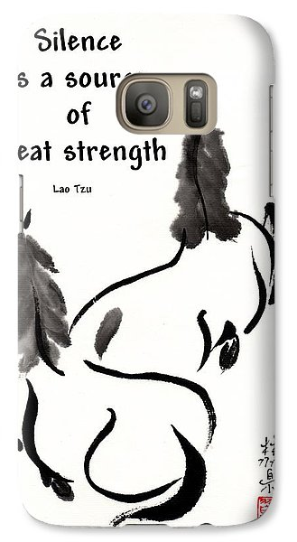 Galaxy Case featuring the painting Retired With Lao Tzu Quote IIi by Bill Searle
