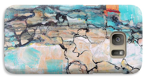Galaxy Case featuring the painting Retreat by Mary Schiros