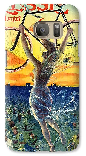 Galaxy Case featuring the photograph Retro Bicycle Ad 1898 by Padre Art