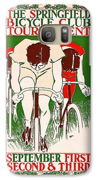 Galaxy Case featuring the photograph Retro Bicycle Poster 1895 by Padre Art