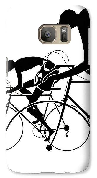 Galaxy Case featuring the photograph Retro Bicycle Silhouettes 2 1986 by Padre Art