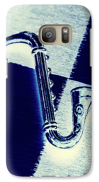 Saxophone Galaxy S7 Case - Retro Blues by Jorgo Photography - Wall Art Gallery
