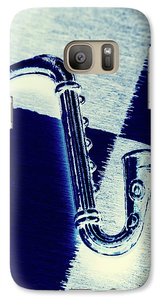 Trumpet Galaxy S7 Case - Retro Blues by Jorgo Photography - Wall Art Gallery
