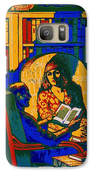 Galaxy Case featuring the photograph Retro Books Poster 1920 by Padre Art