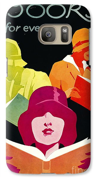 Galaxy Case featuring the photograph Retro Books Poster 1929 by Padre Art