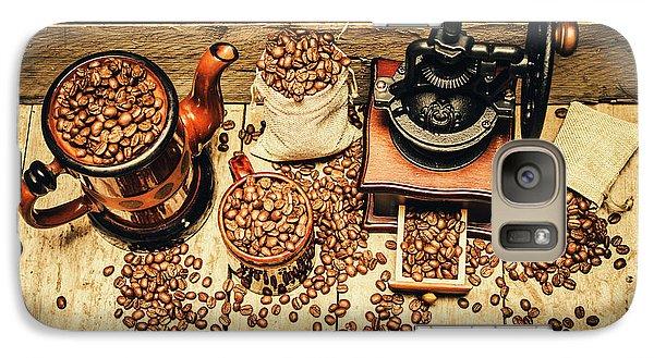 Retro Coffee Bean Mill Galaxy S7 Case