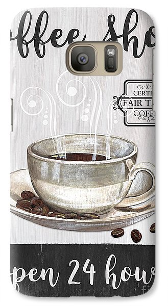 Galaxy Case featuring the painting Retro Coffee Shop 1 by Debbie DeWitt