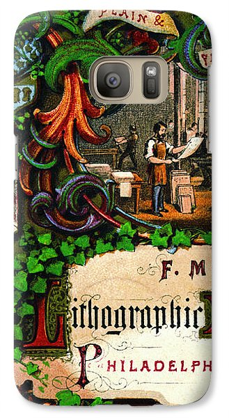 Galaxy Case featuring the photograph Retro Printing Ad 1867 by Padre Art