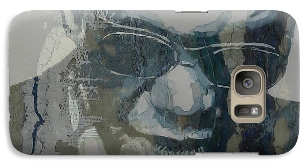 Galaxy Case featuring the mixed media Retro / Ray Charles  by Paul Lovering