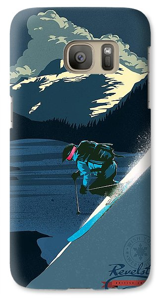 Mount Rushmore Galaxy S7 Case - Retro Revelstoke Ski Poster by Sassan Filsoof