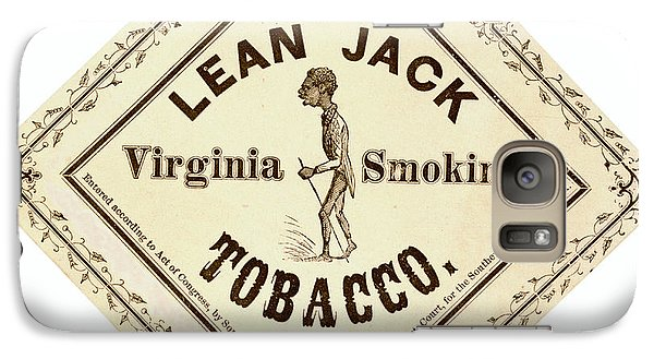Galaxy Case featuring the photograph Retro Tobacco Label 1867 A by Padre Art