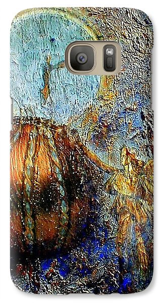 Galaxy Case featuring the mixed media Revelation by Gail Kirtz