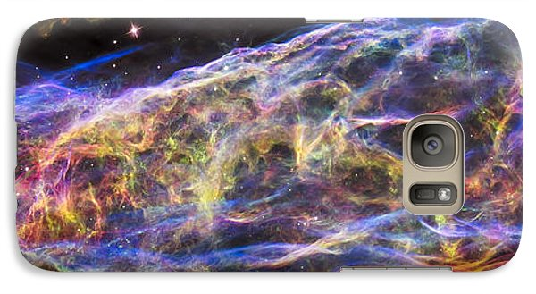 Galaxy Case featuring the photograph Revisiting The Veil Nebula by Adam Romanowicz