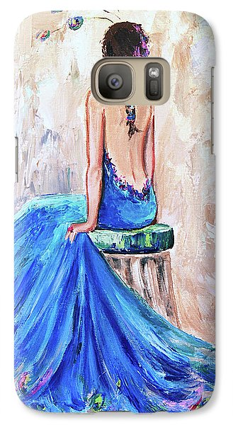 Galaxy Case featuring the painting Rhapsody In Blue by Jennifer Beaudet