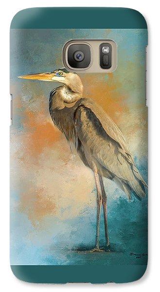 Egret Galaxy S7 Case - Rhapsody In Blue by Marvin Spates