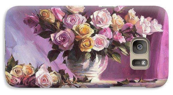 Peach Galaxy S7 Case - Rhapsody Of Roses by Steve Henderson