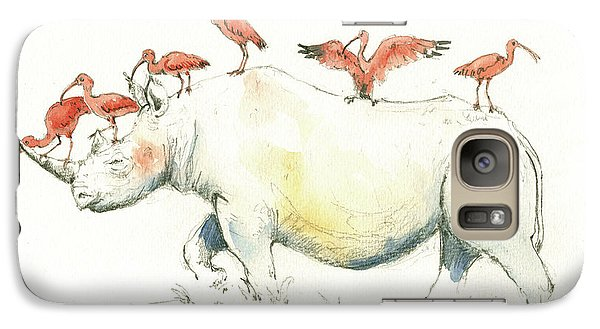Rhino And Ibis Galaxy S7 Case by Juan Bosco