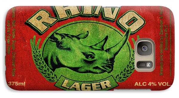Galaxy Case featuring the digital art Rhino Lager by Greg Sharpe