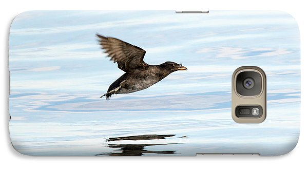 Rhinoceros Auklet Reflection Galaxy S7 Case