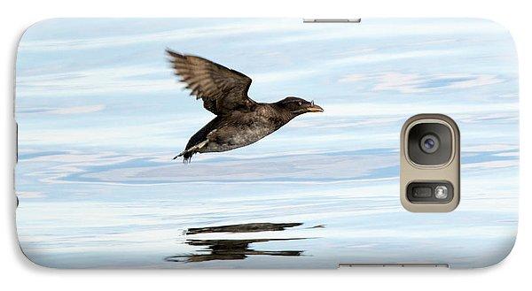 Rhinoceros Auklet Reflection Galaxy S7 Case by Mike Dawson