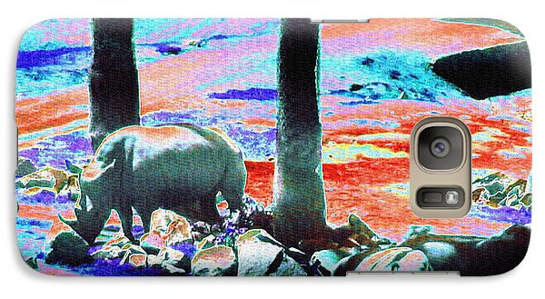 Rhinos Having A Picnic Galaxy S7 Case by Abstract Angel Artist Stephen K
