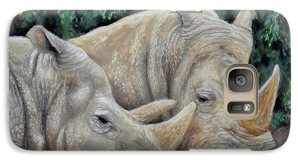 Rhinos Galaxy S7 Case by Sam Davis Johnson