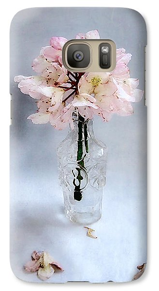 Galaxy Case featuring the photograph Rhododendron Bloom In A Glass Bottle by Louise Kumpf