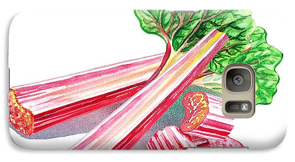 Galaxy Case featuring the painting Rhubarb Stalks by Irina Sztukowski