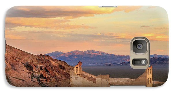 Galaxy Case featuring the photograph Rhyolite Bank At Sunset by James Eddy