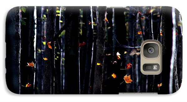 Galaxy Case featuring the photograph Rhythm Of Leaves Falling by Bruce Patrick Smith