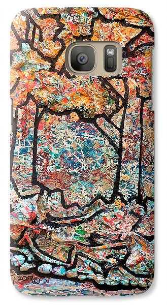 Galaxy Case featuring the mixed media Rhythm Of The Forest by Genevieve Esson