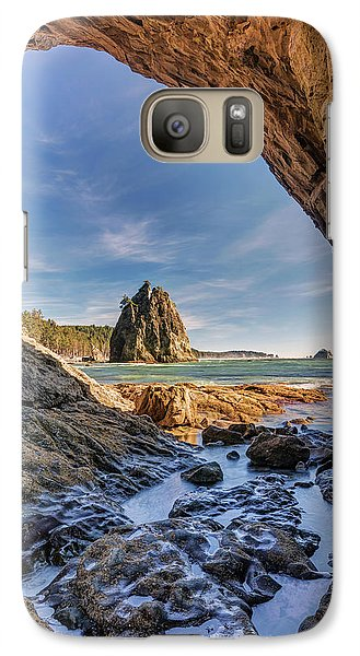 Galaxy Case featuring the photograph Rialto Beach Sea Arch by Pierre Leclerc Photography