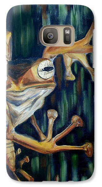 Galaxy Case featuring the painting Ribbit by Donna Tuten