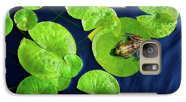 Galaxy Case featuring the photograph Ribbit by Greg Fortier