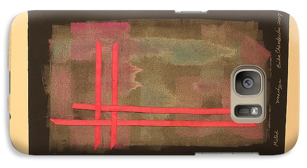 Galaxy Case featuring the mixed media Ribbons by Erika Chamberlin
