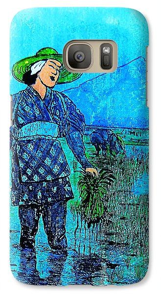 Galaxy Case featuring the painting Rice Field Blues by Roberto Prusso